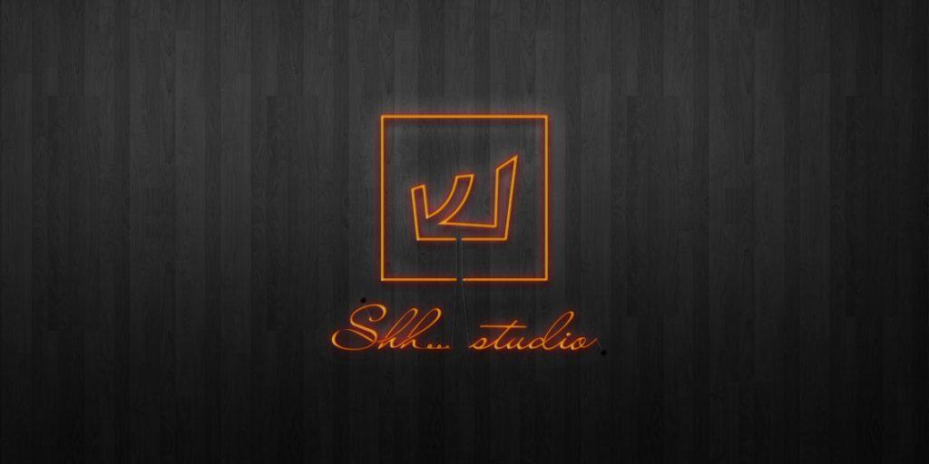 shh studio neon signn