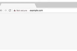 unsecure url website